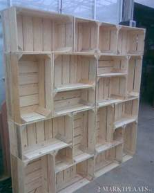diy idea shelf out of crates awesome way to modern