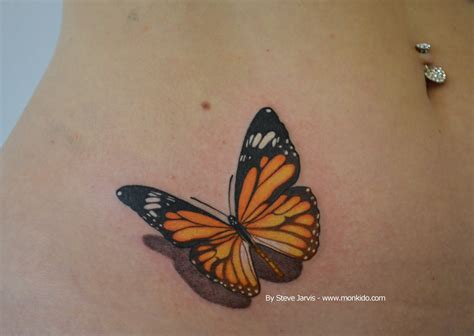 orange tattoo monki do studio orange and black butterfly