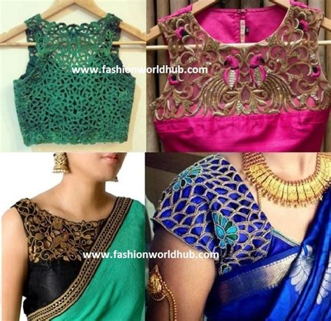 embroidery design in blouse cut work embroidery designs sarees makaroka com