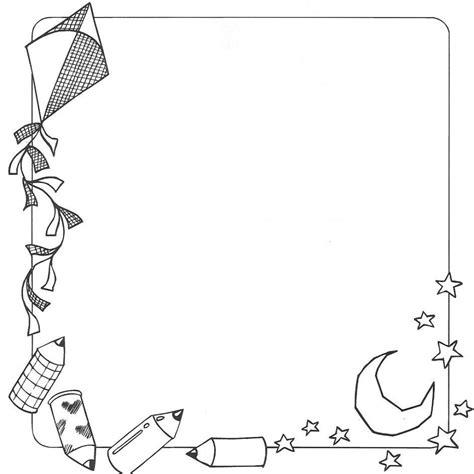 imagenes escolares para imprimir gratis bordes escolares colouring pages caratulas pinterest