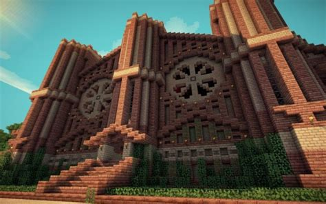 minecraft library building architecture creation