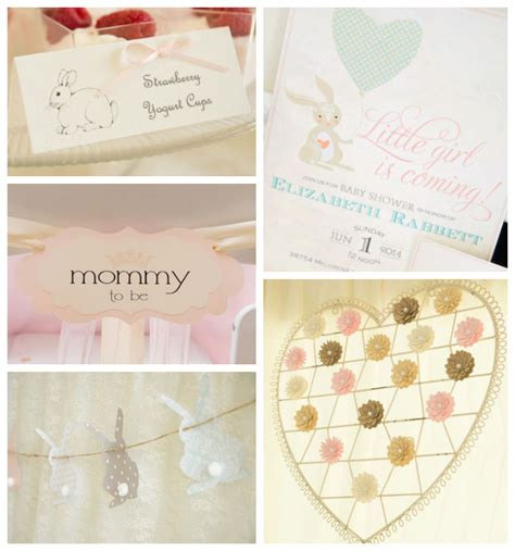 Vintage Themed Baby Shower by Kara S Ideas Vintage Bunny Themed Baby Shower