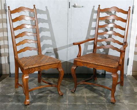 ladder back dining room chairs set of 6 ladder back oak dining chairs at 1stdibs