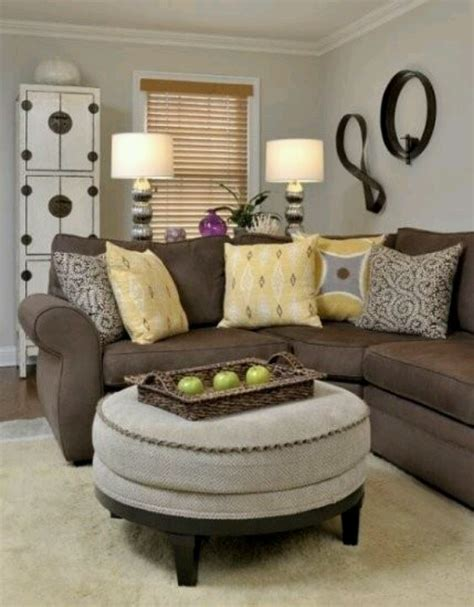 Small Living Room Ottoman Small Living Room Yellow Pillows Ottoman
