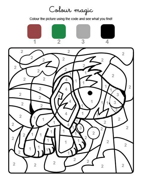 dibujos infantiles ingles colour by numbers un perro dibujos para colorear