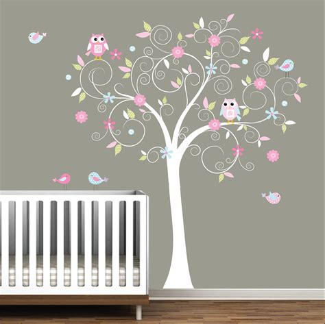 decal stickers vinyl wall decals nursery tree e17