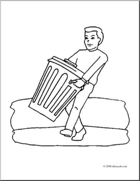 house chores coloring pages clip art kids chores taking out the trash coloring