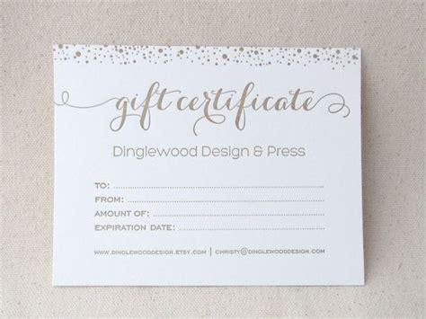 photography gift certificate template wedding photography