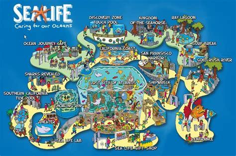 sea life carlsbad aquarium map oceanbeach theme