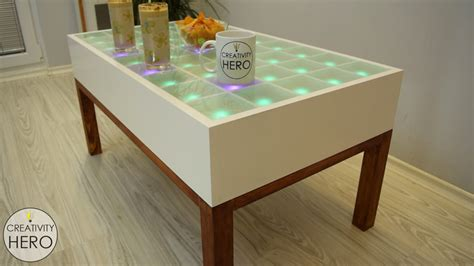 Interactive Led Coffee Table Diy Interactive Led Coffee Table Creativity