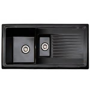 Black Ceramic Kitchen Sink Reginox Black Ceramic 1 5 Bowl Kitchen Sink Rl401cb At Plumbing Uk