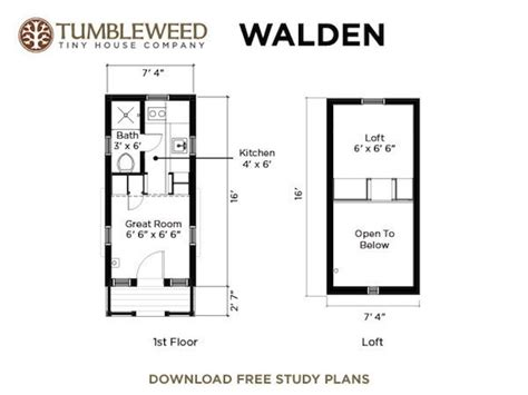 tumbleweed plans walden tiny house with dormers