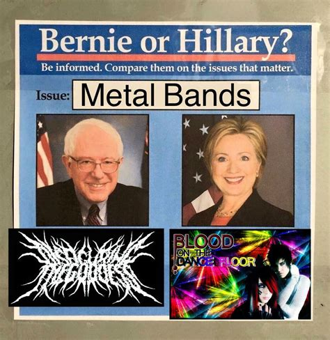 Metal Band Memes - metal bands bernie or hillary know your meme