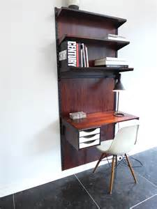 Small Desk Shelving Unit Kristiansen Rosewood Unit With Desk Visavu Design