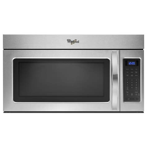 microwave with fan over the range whirlpool wmh31017as 30 in over the range microwave w 2