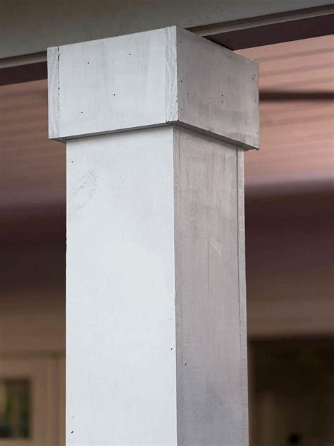 cover metal columns  wood hgtv
