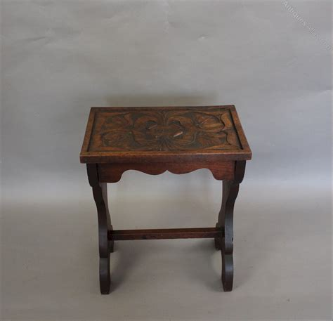 arts and crafts carved table dated 1903 antiques atlas