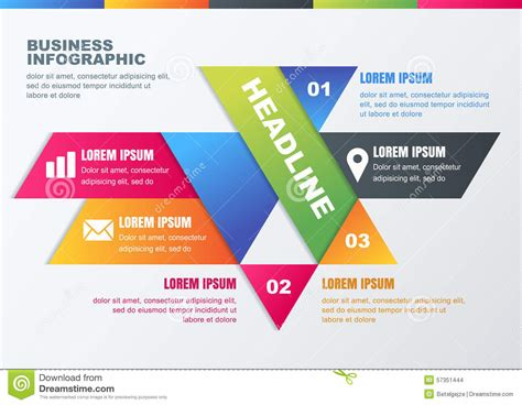 vector business infographic design template for brochure