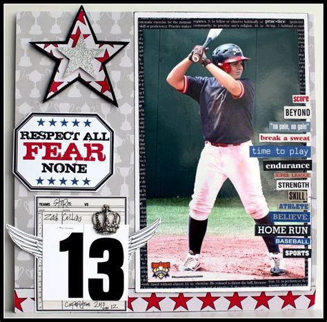 scrapbook layout baseball 293 best images about baseball layouts on pinterest a