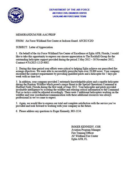 Appreciation Letter Of Credit letter draft template letter of credit lc presentation received usaf letter of appreciation