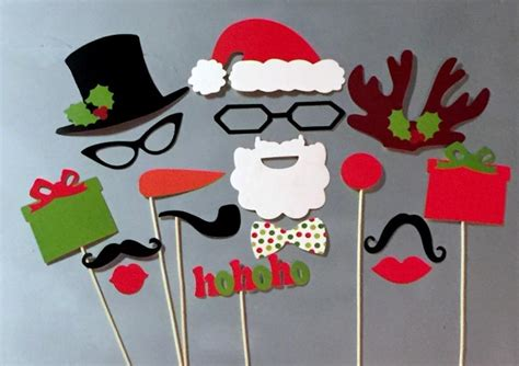 christmas photo booth props 17 piece santa wedding photo