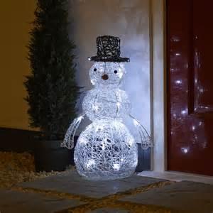 wilko christmas led snowman light white x 32