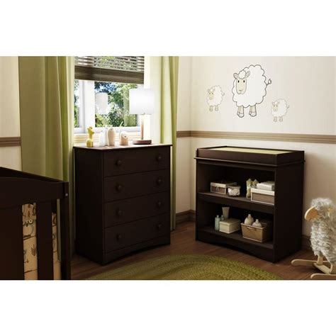 south shore changing table espresso south shore peek a boo espresso changing table 3559334