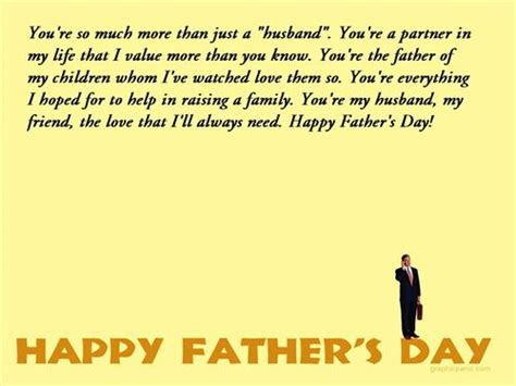 happy fathers day quotes to husband husband and quotes quotesgram