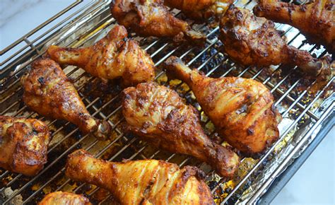 broil chicken legs crispy tandoori chicken drumsticks with mango chutney