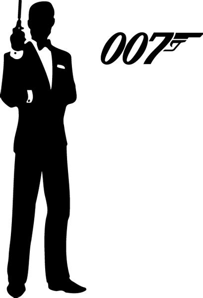 james bond silhouette james bond 007 free vector in encapsulated postscript eps