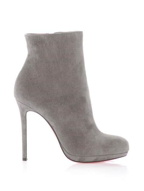 christian louboutin bootylili 120mm suede ankle boots