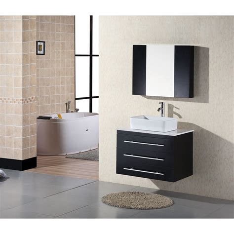 modern wall mounted bathroom cabinets design element portland 30 quot wall mount bathroom vanity