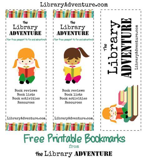 printable library bookmarks free printable the library adventure bookmarks free