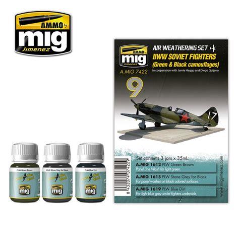 Amig7422 Wwii Soviet Airplanes Green Black Camouflages ww ii soviet airplanes green black camouflages ammo by mig jimenez