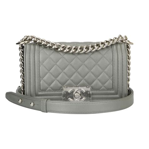 chanel small boy silver caviar shiny silver hardware 2017 boutiqi bags