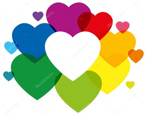 colored hearts rainbow colored hearts stock vector 169 furian 59545547