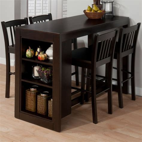 counter height kitchen tables with storage jofran maryland counter height storage dining table