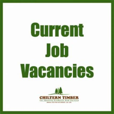 current job opportunities chiltern timber