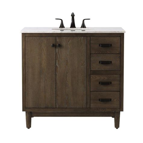 Home Decorators Collection Brisbane 37 In W X 22 In D Weathered Bathroom Vanity