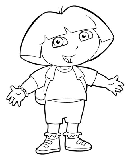 simple dora coloring pages dora coloring pages coloringpagesabc com