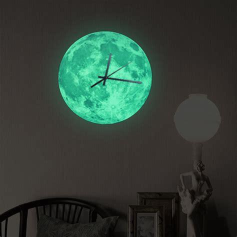 Fun Wall Stickers online kaufen gro 223 handel glow wall clock aus china glow