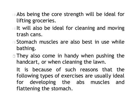 ideal types  exercises   flatten  seniors stomach