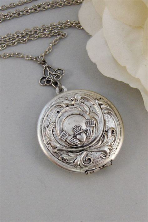 Handmade Locket - caitlins claddagh claddagh antique locket silver locket