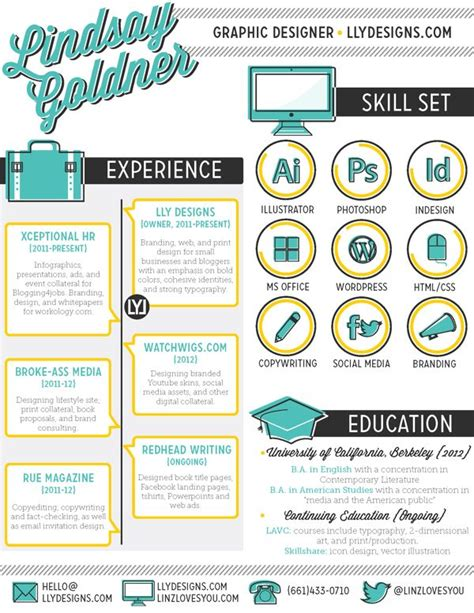 25  best ideas about Graphic designer resume on Pinterest