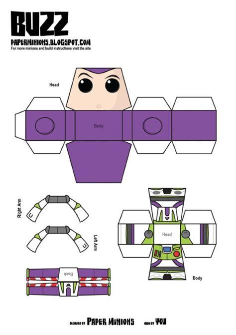 minion papercraft template woody buzz de paper minions disney buzz lightyear and