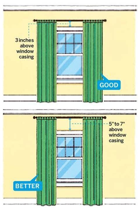 how low should curtains hang 11 foolproof decorating tips hanging curtains window