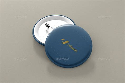 psd button badge pin mock up free mockups center