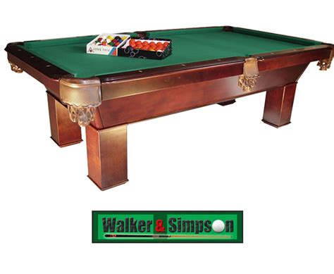 8ft slate pool walker and simpson snooker and pool and equipment