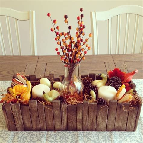 My Fall Centerpiece Fall Themed Party Ideas Pinterest Fall Themed Centerpieces