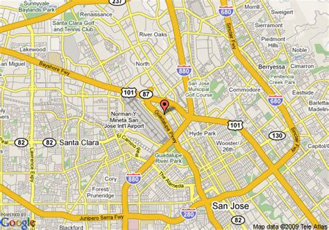 san jose marriott map map of courtyard by marriott san jose airport san jose